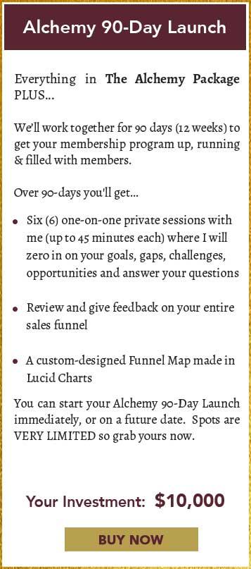 Alchemy 90 Day Launch